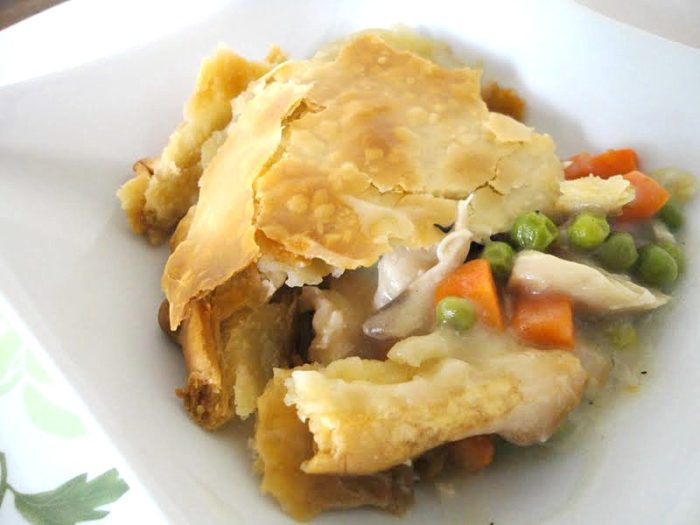 Quick Chicken Pot Pie, made with rotisserie chicken