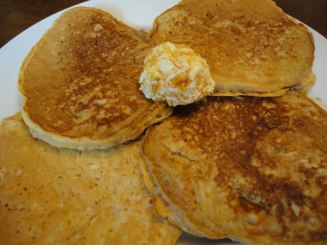 Sweet Potato Pancakes with Peach Butter