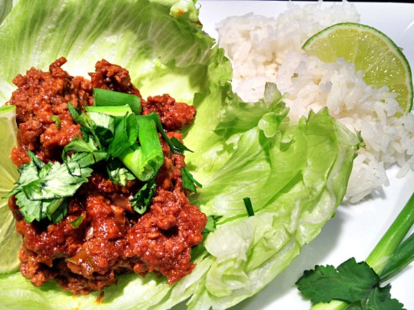 Thai Beef Lettuce Wraps Recipe, from basilmomma.com