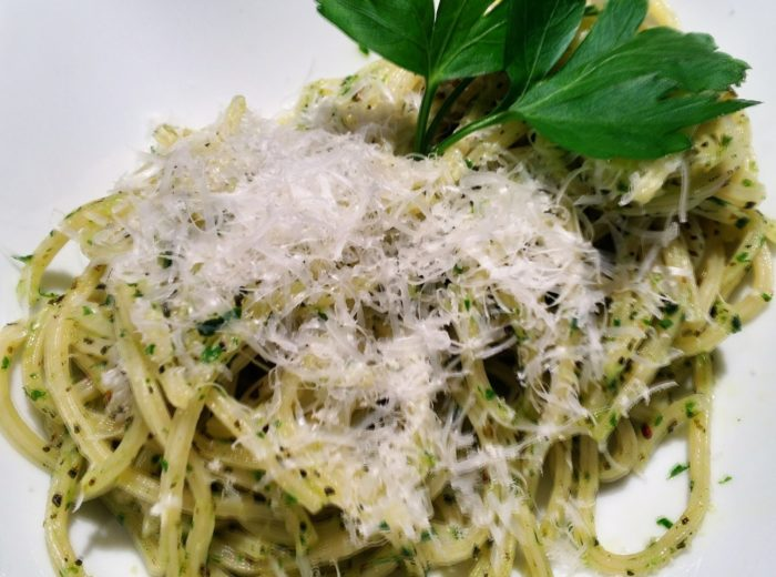 Parsley pesto pasta is a quick and easy pasta recipe, perfect to use as a side dish or a meatless main meal. The recipe is great to make during the cooler months when you may not have access to fresh garden herbs.