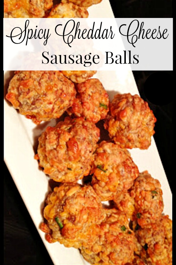 Cheesy Sausage Balls - A great appetizer, snack, or brunch.