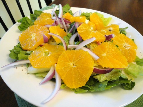 Hearts of Romaine Salad with Orange Vinaigrette - a healthy salad recipe from basilmomma.com