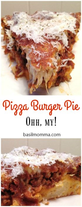 Pizza burger pie may very well be the best comfort food recipe you will ever make. It's warm and cheesy and packed with Italian flavor.