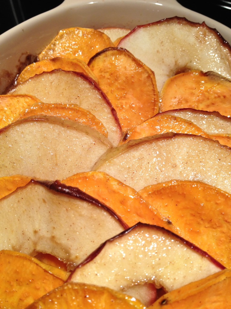 Candied Sweet Potatoes with Apples - a lighter, healthier Thanksgiving side dish alternative. No more super sweet marshmallow topping!