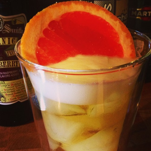 Craft Beer Cocktails for New Year's Eve, including this Grapefruit Moon