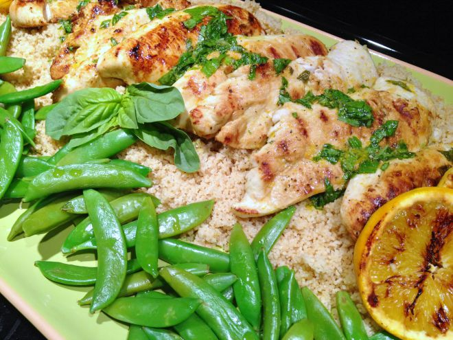 Orange Basil Grilled Chicken Recipe - A healthy and delicious meal for indoor or outdoor grilling.