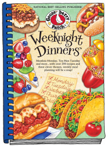 "Gooseberry Patch cookbook cover - ""Weeknight Dinners"""