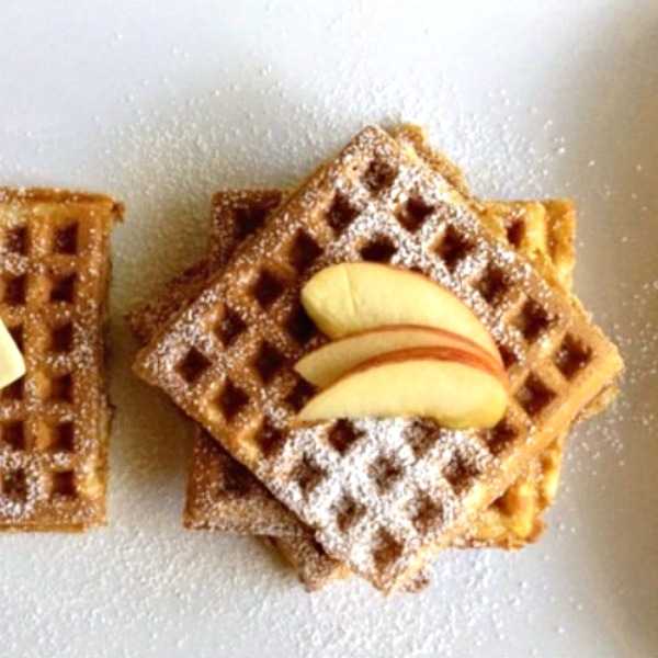 Apple waffles spiced with cinnamon make the best fall breakfast! This easy waffles recipe is from the Gooseberry Patch cookbook, A Hometown Harvest.