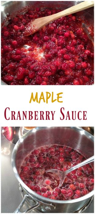 Maple Cranberry Sauce Recipe - basilmomma.com