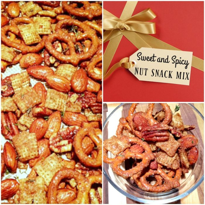Sweet and Spicy Nut Mix - The perfect healthy snack and edible gift to give for the holidays! | recipe on basilmomma.com