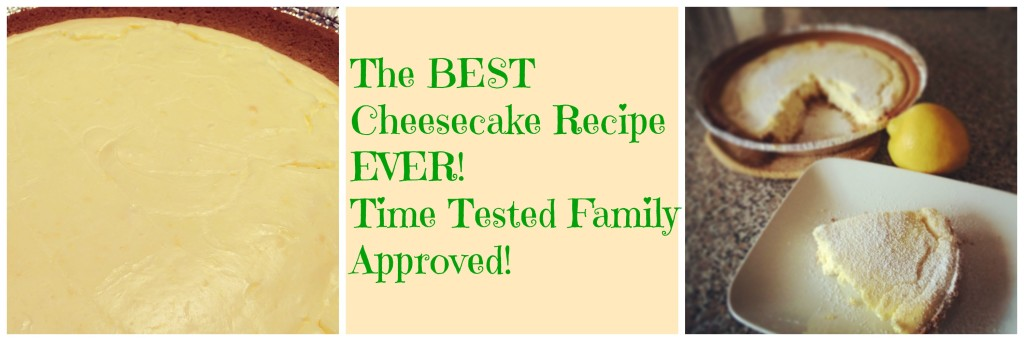 The best easy cheesecake recipe you will ever make or eat! This is an easy lemon cheesecake. The recipe came from my husband's grandmother. It's SO good! Get the recipe on basilmomma.com