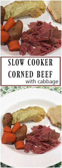 Slow Cooker Corned Beef Brisket with Cabbage | basilmomma.com