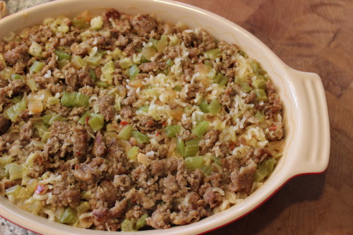Family Favorite Sausage and Rice Casserole