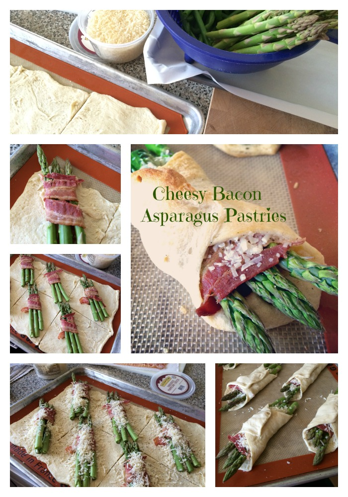Cheesy Bacon Asparagus Pastries
