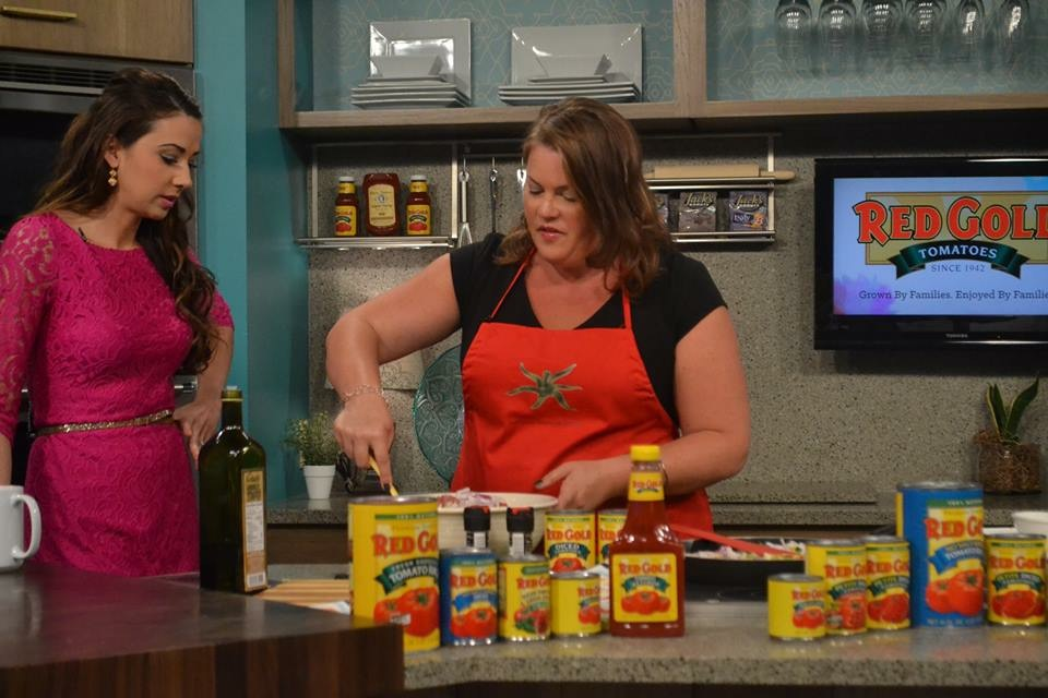 Basilmomma (Heather Tallman), making Red Gold Tomatoes Recipes on IndyStyle