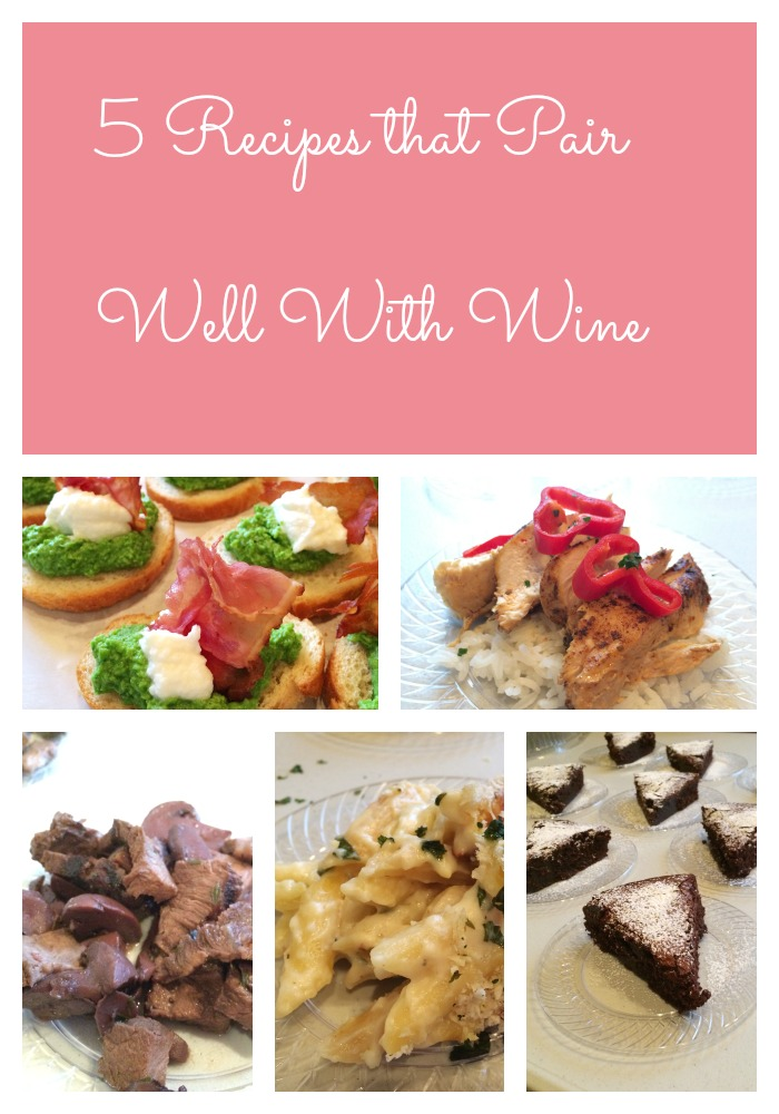 5 Recipes that Pair Well With Wine as Served at Mallow Run Winery