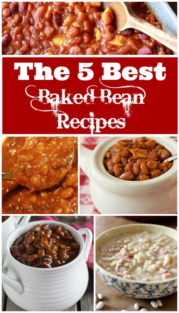 5 of the BEST Basked Bean Recipes on the Internet. These are all full of flavor and easy to make. The perfect comfort food side dish!