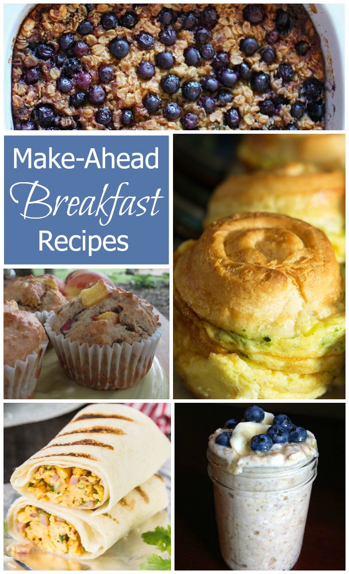 Make-Ahead-Breakfast Recipes - The recipes in this collection are all easy to make ahead and are perfect for a grab-n-go morning.