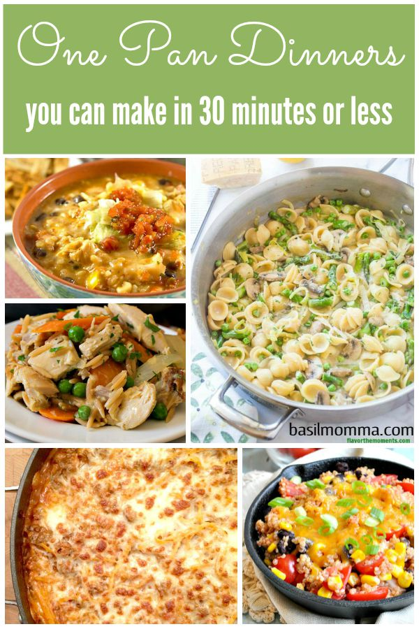 Recipe Collection of One Pan Dinners on Basilmomma.com - These dinner recipes are all kid-friendly, made in one pan, and in under 30 minutes, making them perfect school night dinners for busy families!