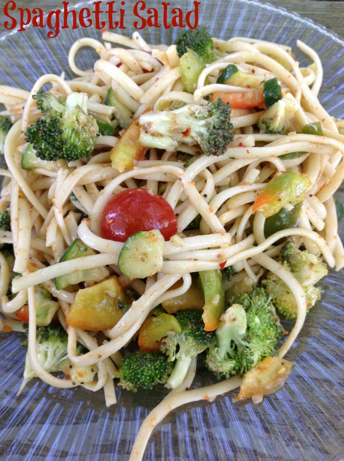 Spaghetti Salad, from Just 2 Sisters - One of the fun ways to serve spaghetti.