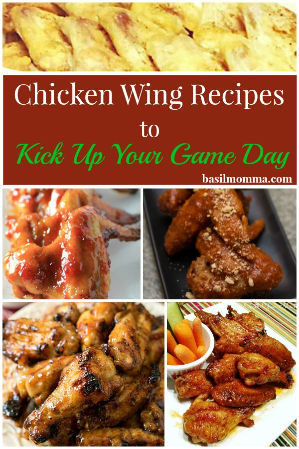 These unique chicken wing recipes are full of flavor and will put a kick into your game day food. Sweet Asian wings, chili lime wings, chipotle wings, and more! Get the recipes on basilmomma.com