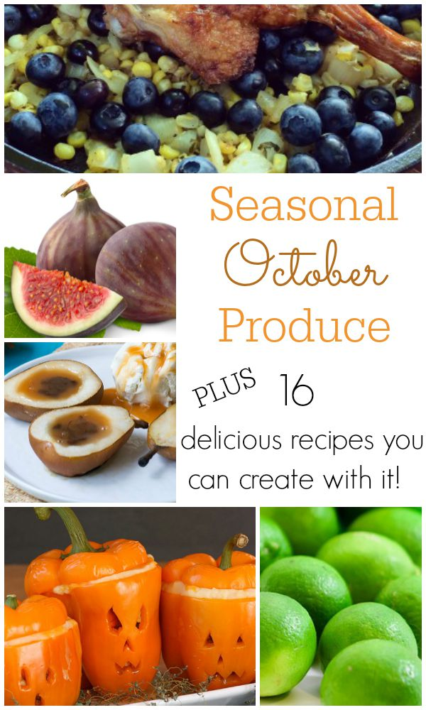A list of the Seasonal October Produce and 16 delicious recipes that you can create with it! - Get the info and recipes on basilmomma.com