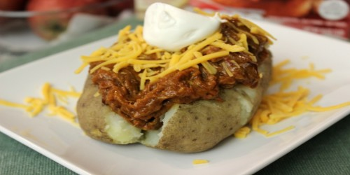 BBQ Baked Potato with Farm Rich® Smokehouse Pulled Beef Brisket