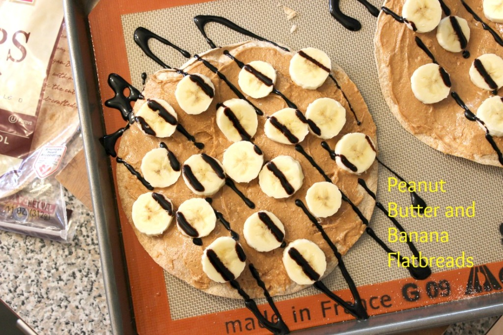 Peanut Butter and Banana Flatbreads - These are great kid-friendly after-school snacks