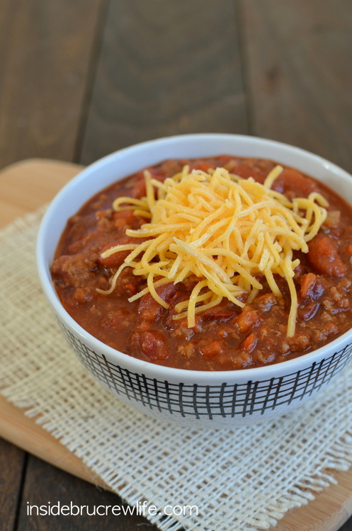 Sweet & Spicy Dr. Pepper Chili from Inside BruCrew Life