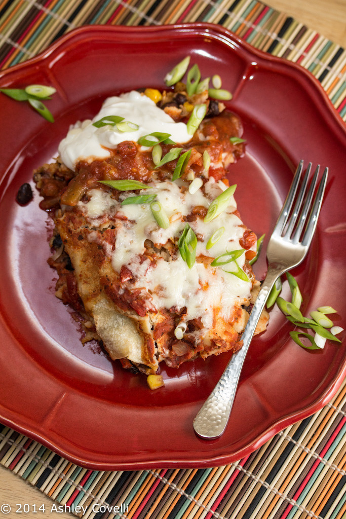 Slow Cooker Enchiladas from Big Flavors from a Tiny Kitchen - One of the best slow cooker recipes I've eaten!