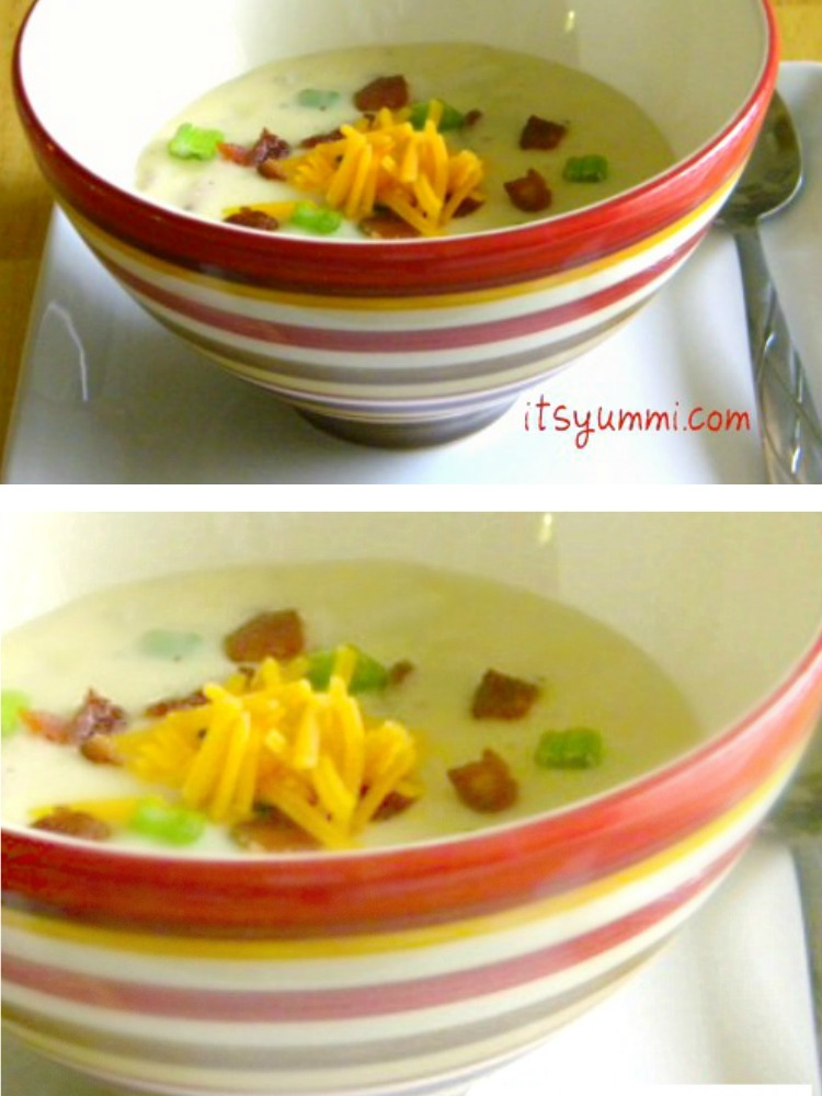 This mashed potato soup from @itsyummi is a great recipe using Thanksgiving leftovers. No more mounds of mashed potatoes in the fridge!