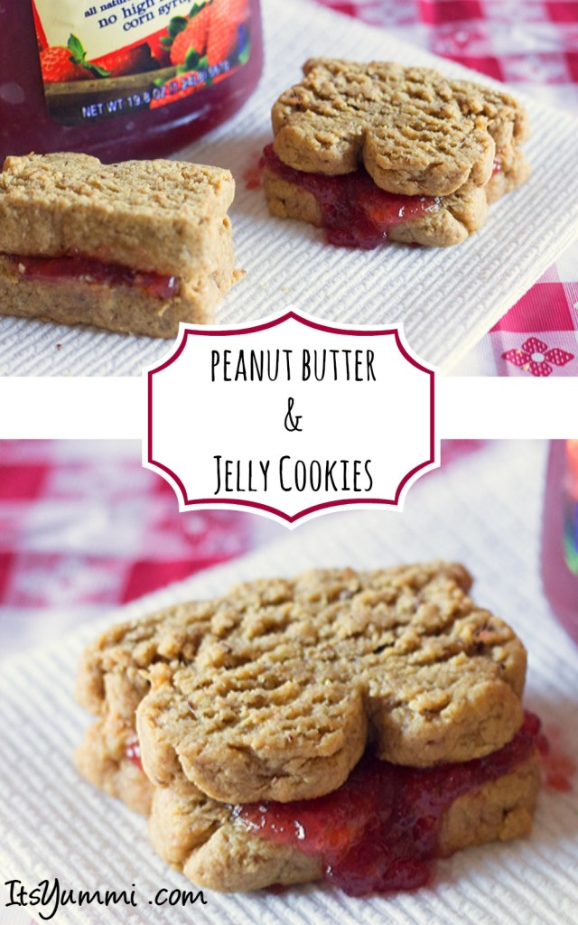 Just in time for peanut butter lovers month come these low carb peanut butter and jelly sandwich cookies from itsyummi.com