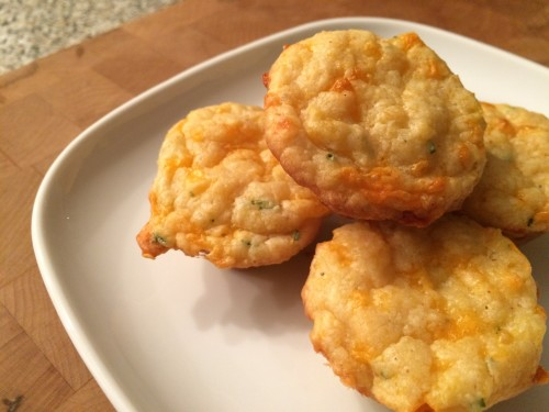 Cheese Grit and Chive Muffins - get the recipe from basilmomma.com