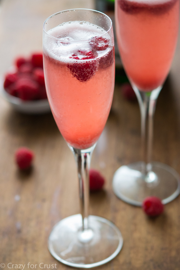 Champagne Punch Bellini - An easy New Year's Eve cocktails recipe from Crazy For Crust