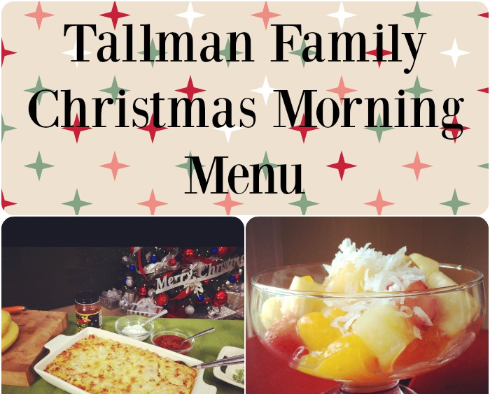 Tallman Family Christmas Morning Menu 2