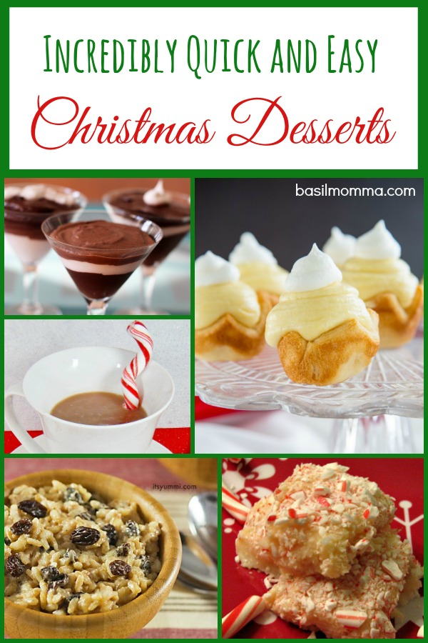 Get a collection of INCREDIBLY EASY Christmas Dessert Recipes in a single collection on basilmomma.com
