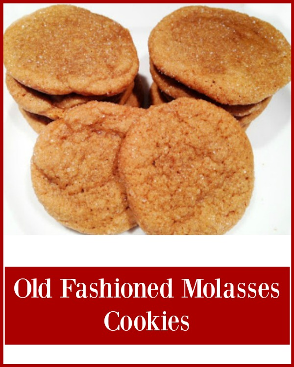 Old Fashioned Molasses cookies - Chewy and soft, these are the perfect holiday cookies! Get the recipe from basilmomma.com