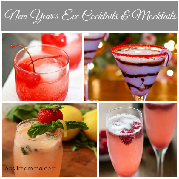 New Year's Eve Cocktails and Mocktails - See the collection on basilmomma.com