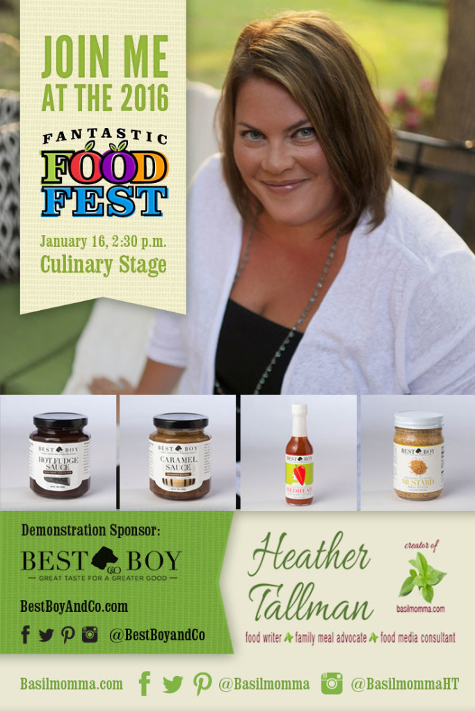Fantastic Food Fest Best Boy & Co Demonstration Saturday, January 16 at 2:30 pm