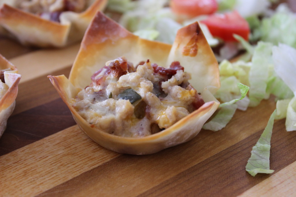 chicken bacon ranch wontons