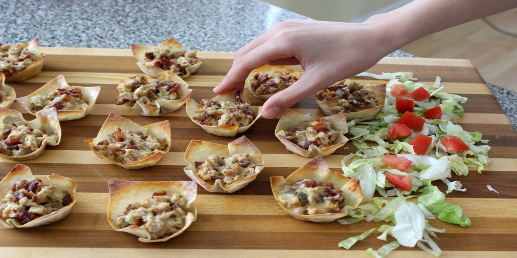 Chicken Bacon Ranch Wonton Cups Jacob