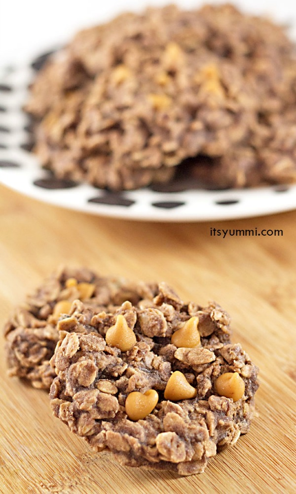Chocolate Peanut Butter No Bake Cookies from @itsyummi - make them for Peanut Butter Lover's Day!