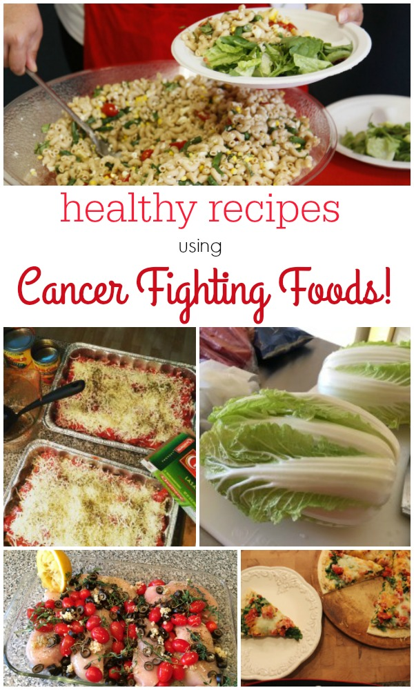 Healthy recipes that have cancer fighting foods in them! Get the healthy recipe collection on basilmomma.com