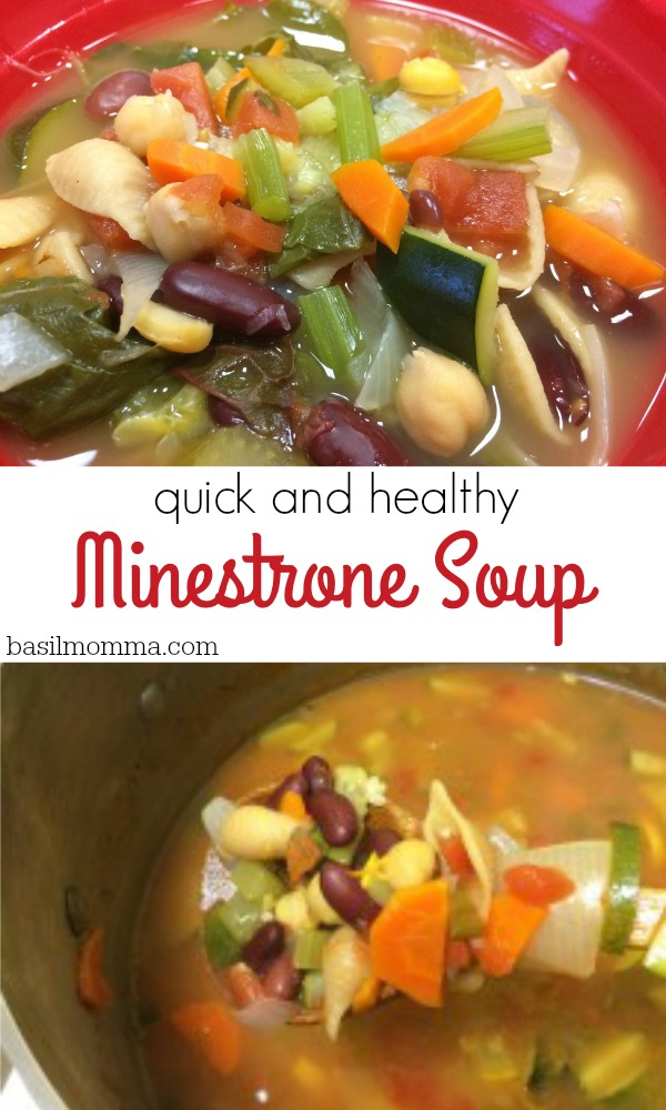 Quick and Healthy Minestrone Soup - Filled with cancer fighting foods, this is a great recipe for everyone in the family.