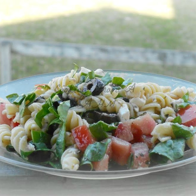 Vegetarian Pasta Salad Recipe | Get the recipe on basilmomma.com