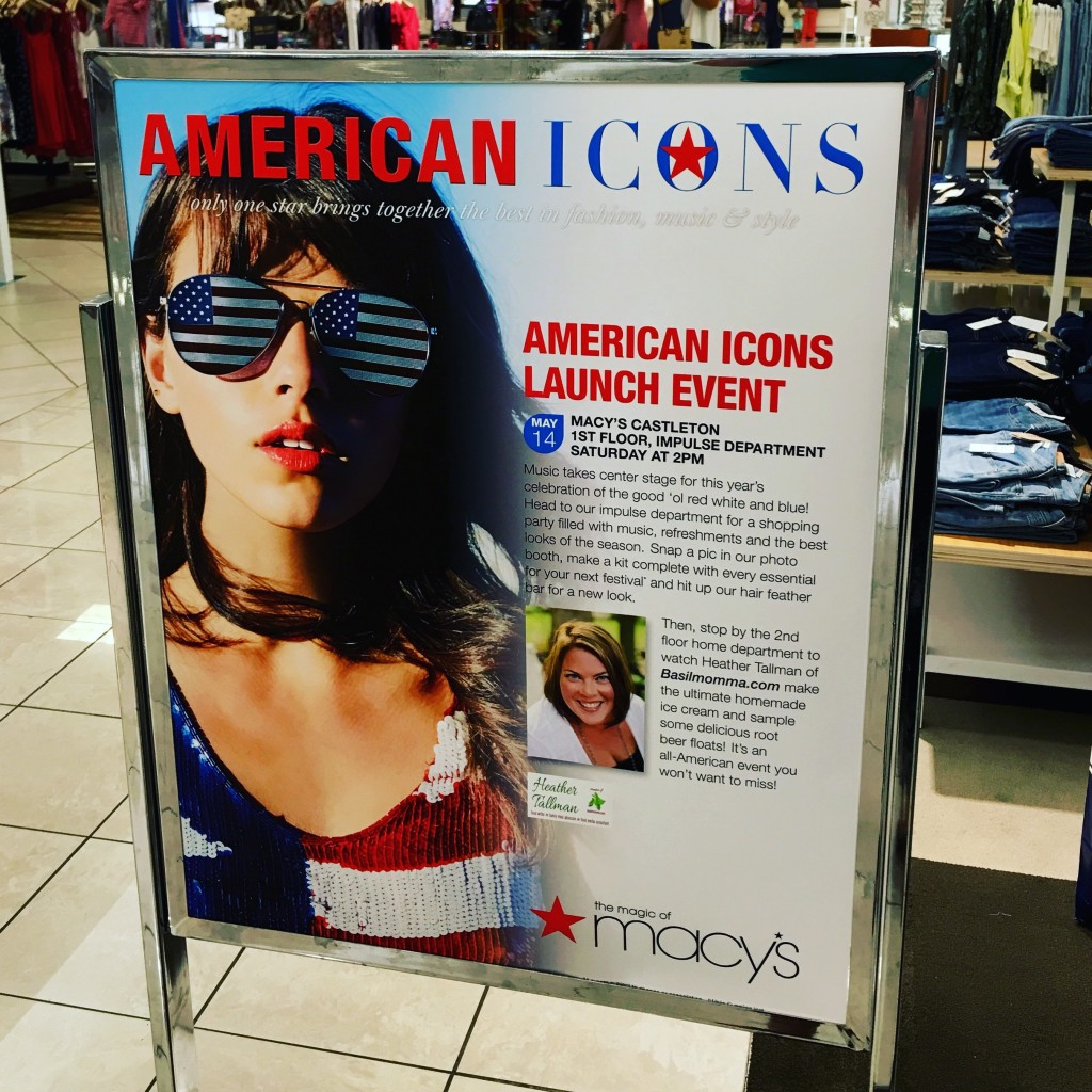 Macy's American Icons event