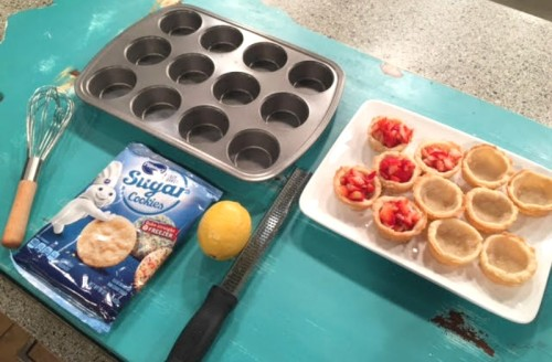 Ingredients needed to make Oven Roasted Strawberry Cookie Cups - Get the recipe from basilmomma.com