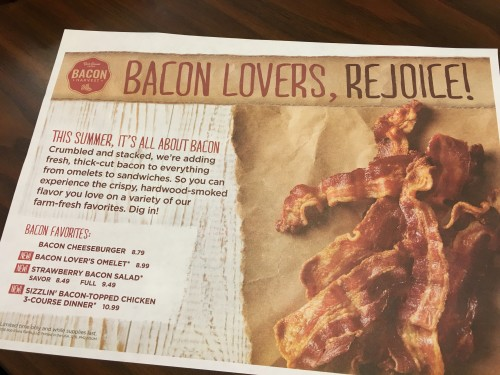 Bacon lovers, rejoice! Lots of bacon items are on Bob Evans new summer menu!