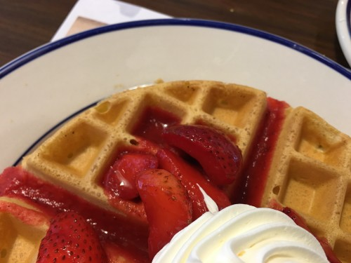 Fresh strawberry waffles are on Bob Evans new summer menu