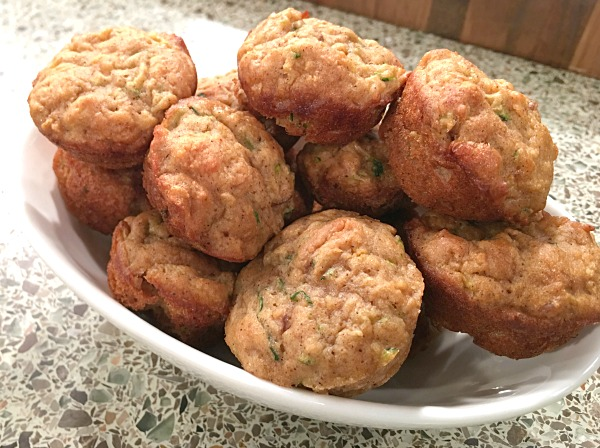 Apple Zucchini Muffins - 1 of 4 easy summer recipes that your kids can make.